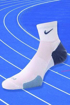 Ladies 1 Pair Nike Elite Running Cushioned Left Right Quarter Socks In 2 Colours