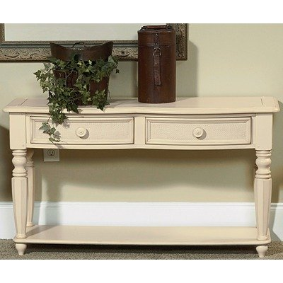 Image of Wynwood Hadley Pointe Sofa/Console Table in Antique Parchment (1655-07)
