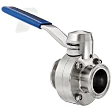 "Dixon B5104E150CC-D Stainless Steel CF8M Clamp End Butterfly Valve with EPDM Seal, 1-1/2"" Tube OD, 140 psi Pressure"