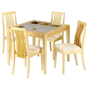 Dining Tables UK UK Cheap Alaska Glass Top Dining Table 4 Chairs Set D