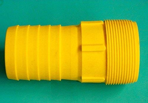 New-Yellow-Heavy-Duty-Poly-Combination-Nipple-2-Hose-Shank-Barb-x-Male-NPT