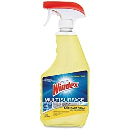 Windex Antibacterial Multisurface Cleaner - Spray - 32 fl oz (1 quart) - Gold