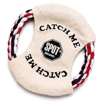 (Price/1)Canvas Frisbee 7″ With Rope Trim