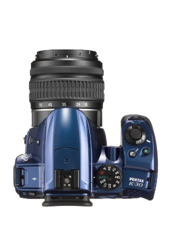 Pentax-K-30-Fotocamera-e-Obiettivo-DA-L-18-55mm-Sensore-CMOS-APS-C-da-1649-Megapixel-Display-LCD-da-3-Video-Full-HD-Blu