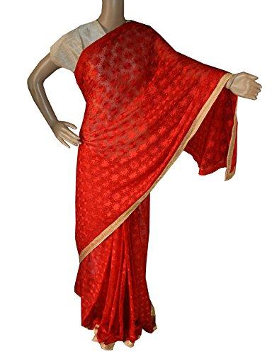 Beautiful RUDA Designer Phulkari Embroidered Saree-JS1111