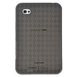 Amzer 89721 Luxe Argyle High Gloss TPU Soft Gel Skinase - Smoke Grey for Samsung GALAXY Tab GT-P1000