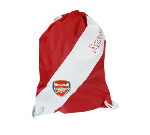 Official Arsenal FC Drawstring Gym Swim Kit Sports Bag