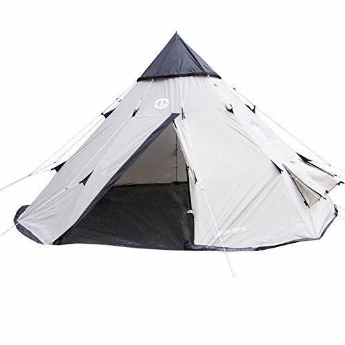 Tahoe Gear Bighorn 4-Person 10' x 10' Teepee Cone Shape Tent | TGT-BIGHORN-4 (Tahoe Gear compare prices)