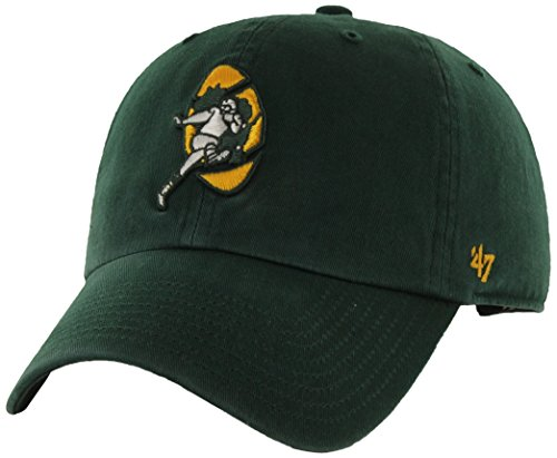 NFL Green Bay Packers '47 Brand Clean Up Adjustable Hat (1968 Logo), Dark Green, One Size