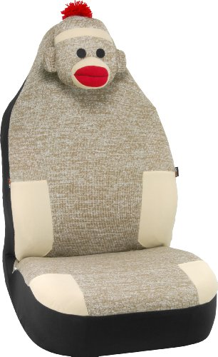 Bell Automotive 22-1-56786-9 Sock Monkey Universal Bucket Seat Cover front-165281