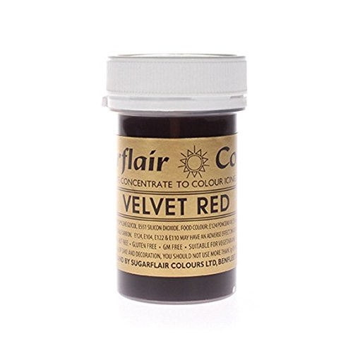 sugarflair-spectral-edible-food-colouring-colour-paste-icing-25g-velvet-red