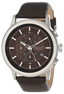 Kenneth Cole New York Men's KC1928 Stainless Steel and Leather Brown Dial Watch
