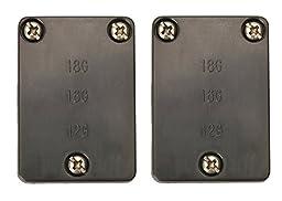 Coleman Cable 11604 20 Pack Cable Connectors for Low Voltage Landscape Lighting 2 Pieces Per Card, Black