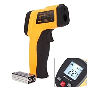 Winpoon® Quality Non-Contact IR Infrared Thermometer Gun With Laser Targeting - High-Speed Accurate (-58~1022°F) Temperature Measurements From A Distance - LCD Display - For Electrical, HVAC, Automotive Diagnostics, Or Cooking Etc.