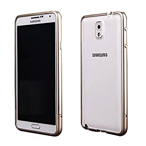 Moon Monkey Lightweight Aluminium Alloy Metal Frame Bumper Fashion Case for Samsung Galaxy Note 3 (MM422) (Champagne)
