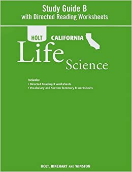 holt science technology california study guide b with directed reading worksheets grade 7. Black Bedroom Furniture Sets. Home Design Ideas