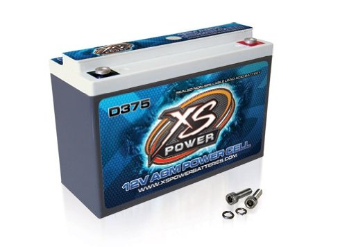 XS Power D375 XS Series 12V 800 Amp AGM High Output Battery with M6 Terminal Bolt