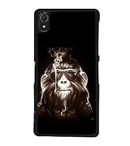 printtech Cool Monkey Glasses Smoke Back Case Cover for Sony Xperia Z2 , Sony Xperia Z2 L50W D6502 D6503