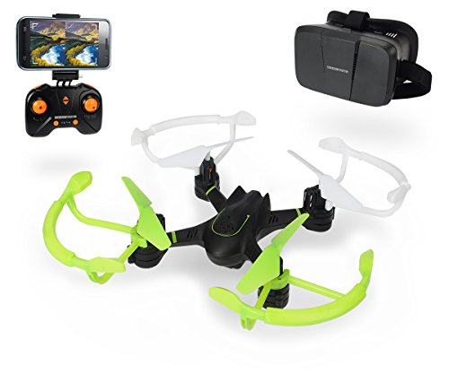 Dickie-Toys-201119434-RC-DT-FPV-VR-Quadrocopter-funkferngesteuert-mit-Kamerafunktion-und-Virtual-Reality-Brille-20-cm