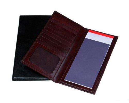 Sage Brown Genuine Leather Chequebook Wallet