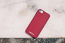 For Apple iPhone 5, iPhone 5S, iPhone SE - High Quality Rubberised Matte Finish Plain - Red Maroon