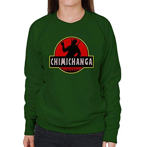 Deadpool Jurassic Park Chimichanga Women's Sweatshirt