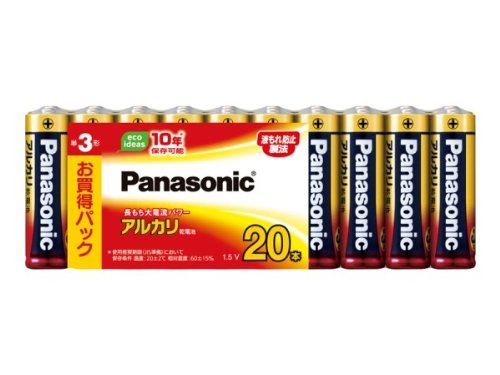 Panasonic 単3形アルカリ乾電池 20本パック LR6XJ/20SW