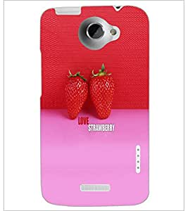 PrintDhaba Strawberries D-4527 Back Case Cover for HTC ONE X (Multi-Coloured)