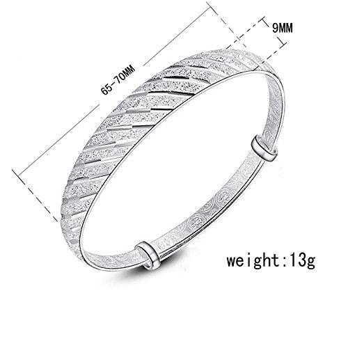 Ecloud Shop® S925 argent sterling Mode pluies de météores bijoux Bracelet femmes cadeau