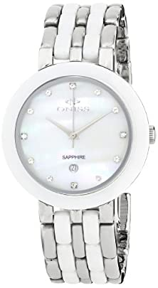 buy Oniss Paris Women'S On818-L-Wht Daisy Ceramic Collection White Watch