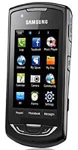 Samsung S5620 Monte Unlocked Quad-Band GSM Phone with 3 MP Camera, Wi-Fi, gps navigation, E-Mail, Stereo Bluetooth--International Version With Warranty (Black)