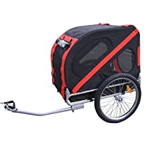 AOSOM Pet Dog Cat Bicycle Bike Trailer - Red/Black