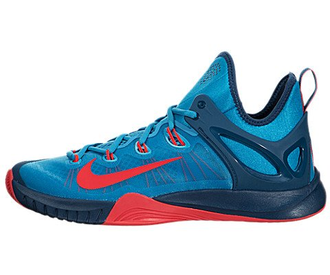 pictures of Nike Men's Zoom Hyperrev 2015 Blue Lagoon/Brght Crmsh/Bl Frc Basketball Shoe 11 Men US