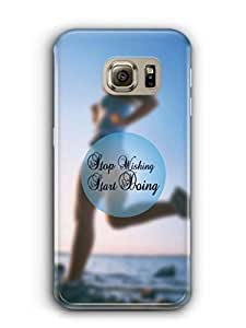 YuBingo Stop Wishing, Start Doing Mobile Case Back Cover for Samsung Galaxy S6 Edge