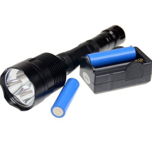 Cree Xm-L T6 5-Modes 3800Lm Led Flashlight Electric Torch Super Bright With 2X Battery & 1X Charger