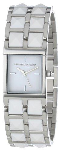 Reloj de pulsera para mujer Kenneth Jay Lane  KJLANE-1502 1500  plateado con enlaces en tono blanco