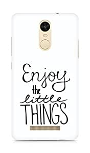 AMEZ enjoy the little things Back Cover For Xiaomi Redmi Note 3