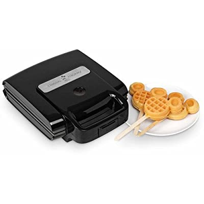 4 Mickey Waffles maker On Stick, Non-stick cooking plates, w/ 50 sticks, Black from MegaDeal