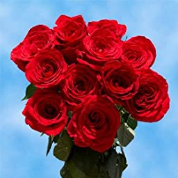 1 Dozen Fresh Cut Red Roses | Romantically Marvelous! | Fresh Flowers Express Delivery | Perfect for Birthdays, Anniversary or any occasion.