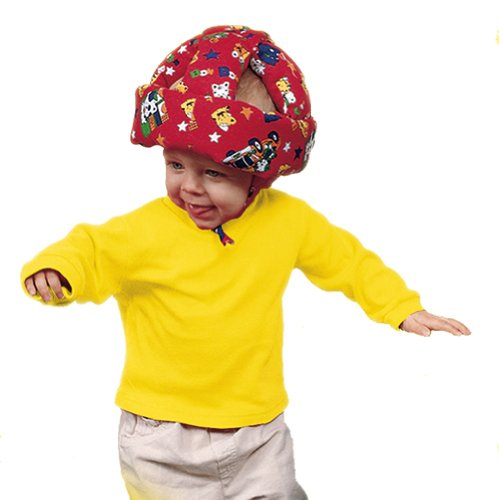 Bumper Bonnet Toddler Head Cushion (Cream/Teddies)