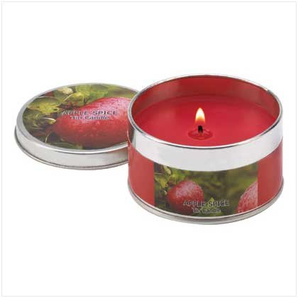 Apple Spice Scented Tin Candle Container Home Fragrance