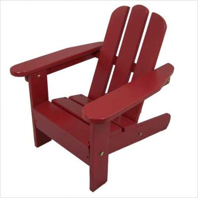 Solid Maple Kid's Adirondack Chair Finish: Firehouse Red