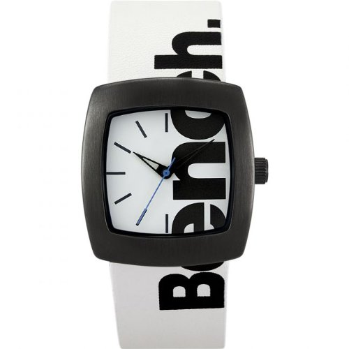 Bench Ladies Quartz Strap Watch with White Dial Analogue Display and White Plastic or Pu Band Bc0405Gnbk