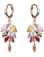 Waah Waah Gold Plated Cubic Zircon Earrings Set For Women (Paradise Leaf)