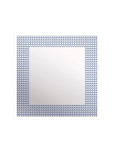 Gallery Direct Chevron Aqua Print on Mirror, Multi, 16 x 16