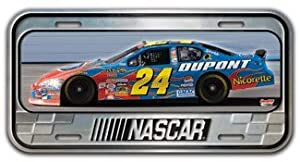 Jeff Gordon #24 Premium 6X12 Standard Size Domed Metal License Plate Nothing Say