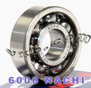 6000 Nachi Open Ball Bearing 10mm x 26mm x 8mm C3 Clearance Made in Japan