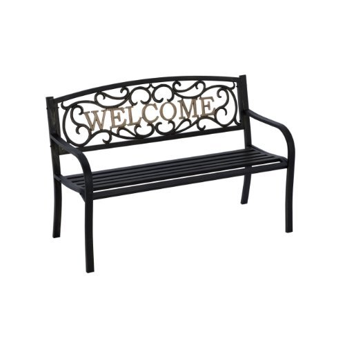 Living Accents Decorative Rust Proof Steel Park Welcome Bench