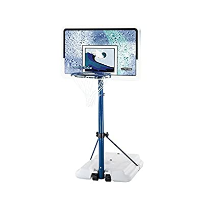 Lifetime 1301 Pool Side White/Blue 44in Basketball Unit with Backboard