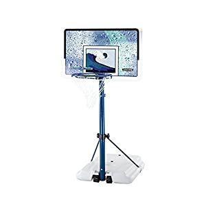 Lifetime 1301 Pool Side Basketball System with Backboard (White/Blue, 44-Inch)